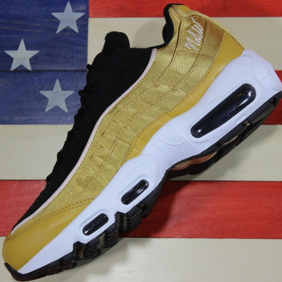 Details about New Women's Size 7 Nike Air Max 95 Gold Black White MSRP $170